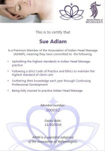 Member of the Association for Indian Head Massage